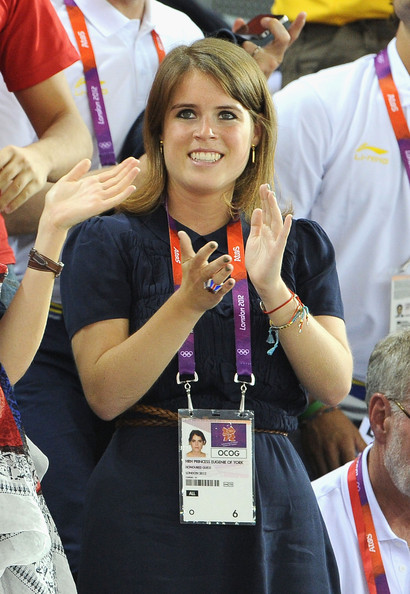 Princess Eugenie claps as she watches the Track Cycling during Day 6 of the London 2012 Olympic Games at Velodrome on August 2, 2012 in London, England.