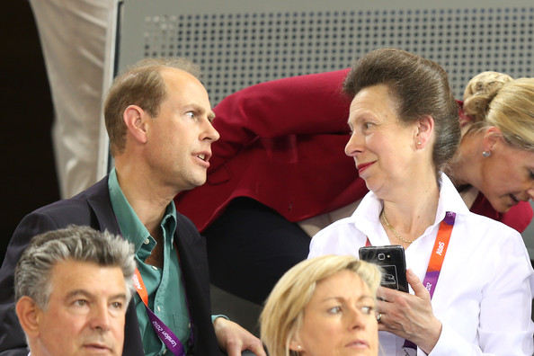 Princess Anne, Princess Royal and Prince Edward, Earl of Wessex watch the track cycling on Day 6 of the London 2012 Olympic Games at Velodrome on August 2, 2012 in London, England.