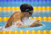 Rebecca Soni of the United States competes in the Women's 200m Breaststroke Final on Day 6 of the London 2012 Olympic Games at the Aquatics Centre on August 2, 2012 in London, England. Soni set a new world record time of 2:19.59 for the event.