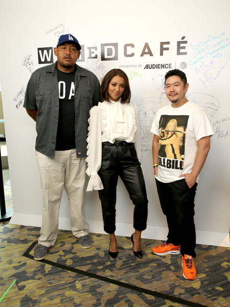 2018 WIRED Cafe At Comic Con Presented By AT&T Audience Network - Day 2 [teenage mutant ninja turtles,fashion,fashion design,event,style,actors,eric bauza,omar benson miller,kat graham,comic con,l-r,wired cafe,audience network,at t]