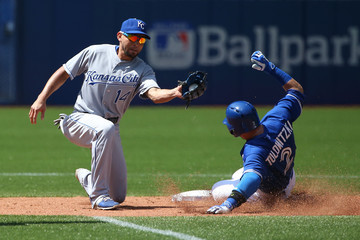 Omar Infante Kansas City Royals v Toronto Blue Jays