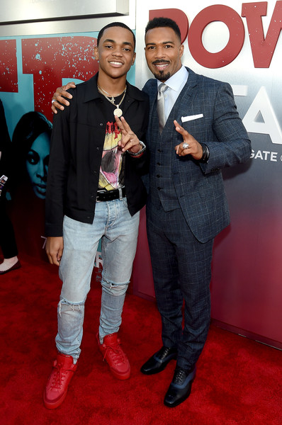 Starz 'Power' The Fifth Season NYC Red Carpet Premiere Event And After Party [red carpet,premiere,carpet,event,flooring,suit,formal wear,style,omari hardwick,michael rainey jr,new york city,l,starz ``power the fifth season nyc red carpet premiere,party,event]