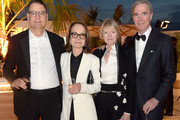 (L-R) Chairman of Sony Pictures Motion Picture Group Tom Rothman, Jessica Harper, and guests attend the Once Upon A Time In Hollywood After Party at JW Marriott on May 21, 2019 in Cannes, France.