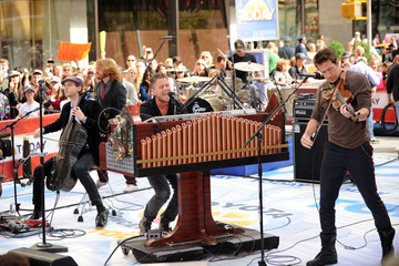 """Zach Filkins Drew Brown One Republic Performs On NBC's """"Today"""" - May 28, 2010"""