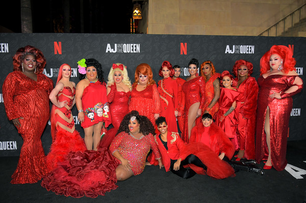 Netflix's 'AJ And The Queen' Season One Premiere [season,red,event,flooring,performance,aj,queen,queens,rupaul c,izzy g.,c,egyptian theatre,netflix,premiere,rupaul,kennedy davenport,aj and the queen,jaymes mansfield,rupauls drag race,the egyptian theatre hollywood,izzy g.,rupauls drag race - season 9,netflix]