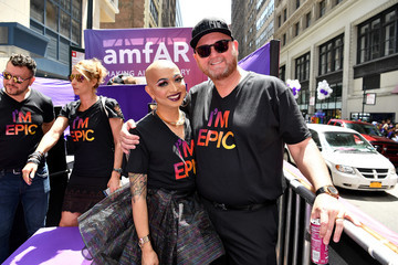 Ongina amfAR #BeEpicEndAIDS at New York City Pride 2017