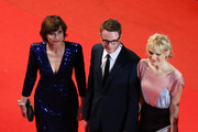 (L-R) Actress Kristin Scott Thomas, director Nicolas Winding Refn and his wife Liv Corfixen attend the 'Only God Forgives' Premiere during the 66th Annual Cannes Film Festival at Palais des Festivals on May 22, 2013 in Cannes, France.