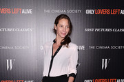 "Model Christy Turlington Burns attends the Sony Pictures Classics' ""Only Lovers Left Alive"" screening hosted by The Cinema Society and Stefano Tonchi, Editor-in-Chief of W Magazine at Landmark's Sunshine Cinema on March 12, 2014 in New York City."