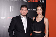 "Eli Mizrahi and model Shanina Shaik attend the Sony Pictures Classics' ""Only Lovers Left Alive"" screening hosted by The Cinema Society and Stefano Tonchi, Editor-in-Chief of W Magazine at Landmark's Sunshine Cinema on March 12, 2014 in New York City."