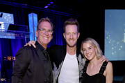 Live Nation?s President of Country Touring Brian O'Connell, Tyler Hubbard of musical duo Florida Georgia Line and Hayley Hubbard attend the 2018 Inspire event by The Onsite Foundation at Marathon Music Works on October 23, 2018 in Nashville, Tennessee.