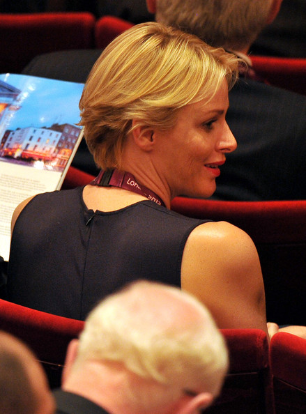 Princess Charlene of Monaco attends the Opening Ceremony of the 124th IOC Session, prior to the start of the London 2012 Olympic Games at The Royal Opera House on July 23, 2012 in London, England.