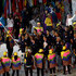 Michael Phelps Photos - Flag bearer Michael Phelps of the United States leads the team entering the stadium during the Opening Ceremony of the Rio 2016 Olympic Games at Maracana Stadium on August 5, 2016 in Rio de Janeiro, Brazil. - Opening Ceremony 2016 Olympic Games - Olympics: Day 0