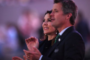 Princess Mary of Denmark and Prince Frederik of Denmark applaud as the team of Denmark enters during the Opening Ceremony of the Rio 2016 Olympic Games at Maracana Stadium on August 5, 2016 in Rio de Janeiro, Brazil.