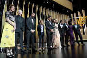 Jury Members Alice Rohrwacher, Robin Campillo, Yorgos Lanthimos, Kelly Reichardt, Javier Bardem, Charlotte Gainsbourg, Jury Member Elle Fanning, wearing Chopard jewels, President of the Main competition jury Alejandro Gonzalez Inarritu, Jury Members Pawel Pawlikowski, Maimouna N'Diaye and Enki Bilal attend the Opening Ceremony during the 72nd annual Cannes Film Festival on May 14, 2019 in Cannes, France.