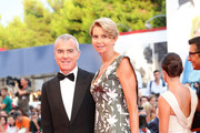 Giampaolo Letta and Rossana Ridolfi  attend the opening ceremony and premiere of 'Everest' during the 72nd Venice Film Festival on September 2, 2015 in Venice, Italy.
