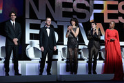 "(From L to R) Jurors  Joel Coen, Ethan Coen, Sophie Marceau, Xavier Dolan and  Rokia Traore during the opening ceremony and premiere of ""La Tete Haute"" (""Standing Tall"") during the 68th annual Cannes Film Festival on May 13, 2015 in Cannes, France."