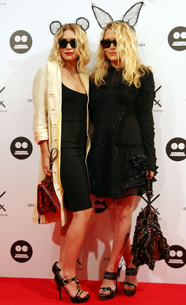 Mary-Kate Olsen (R) and Ashley Olsen (L) attend the 'Opening Ceremony' Japan flagship store opening reception party on August 29, 2009 in Tokyo, Japan. Opening Ceremony will open its first store in Tokyo's fashion district Shibuya on August 30.