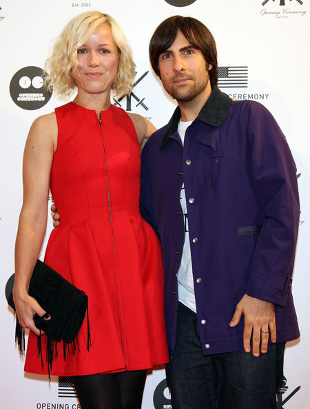 Actor Jason Schwartzman (R) and his wife attend the 'Opening Ceremony' Japan flagship store opening reception party on August 29, 2009 in Tokyo, Japan. Opening Ceremony will open its first store in Tokyo's fashion district Shibuya on August 30.