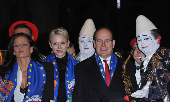 Princess Charlene of Monaco (L-R) Princess Stephanie of Monaco, Princess Charlene of Monaco and Prince Albert II of Monaco attend the opening ceremony of the Monte-Carlo 36th International Circus Festival on January 19, 2012 in Monte-Carlo, Monaco.