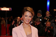 """Jessica Schwarz arrives for the opening ceremony and """"My Salinger Year"""" premiere during the 70th Berlinale International Film Festival Berlin at Berlinale Palace on February 20, 2020 in Berlin, Germany."""