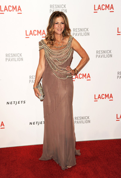 "Actress Rita Wilson arrives at the opening Gala and ""Unmasking"" for the Resnick Pavilion at LACMA on September 25, 2010 in Los Angeles, California."