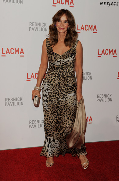 "Actress Jaclyn Smith arrives at the opening Gala and ""Unmasking"" for the Resnick Pavilion at LACMA on September 25, 2010 in Los Angeles, California."