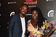 """Corey Hawkins and Danielle Brooks attend the Opening Night of """"Ain't Too Proud: The Life And Times Of The Temptations"""" at the Ahmanson Theatre on August 24, 2018 in Los Angeles, California."""