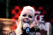"Singer Kerli performs at the opening night of FIDM exhibit for Walt Disney Studios ""Alice In Wonderland"" at LA's Fashion Institute of Design and Merchandising on May 26, 2010 in Los Angeles, California."