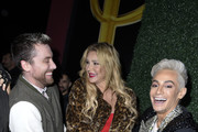 "Lance Bass, Brandi Glanville and Frankie Grande attend Opening Night Of ""Rock Of Ages"" Hollywood At The Bourbon Room at The Bourbon Room on January 15, 2020 in Hollywood, California."