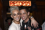 "Frankie Grande and Sean Yves Lessard attend Opening Night Of ""Rock Of Ages"" Hollywood At The Bourbon Room at The Bourbon Room on January 15, 2020 in Hollywood, California."