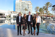 (L-R) Managing Director ROBINSON Club Tobias Neumann, Karen Webb, Managing Director ROBINSON Club Bernd Maeser, Bettina Zimmermann and Kai Wiesinger attend the re-opening of ROBINSON Club Jandia Playa on December 04, 2018 in Fuerteventura, Spain.