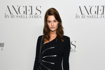 Ophelie Guillermand Cindy Crawford And Candice Swanepoel Host 'ANGELS' By Russell James Book Launch And Exhibit - Arrivals