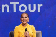 Jennifer Lopez speaks onstage during 'Oprah's 2020 Vision: Your Life in Focus Tour' presented by WW (Weight Watchers Reimagined) at The Forum on February 29, 2020 in Inglewood, California.