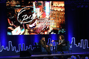 Michael B. Jordan and Oprah Winfrey speak onstage during Oprah's SuperSoul Conversations at PlayStation Theater on February 05, 2019 in New York City.