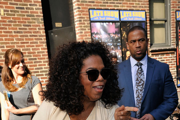 "Oprah Winfrey Celebrities Visit ""Late Show With David Letterman"" - May 14, 2015"