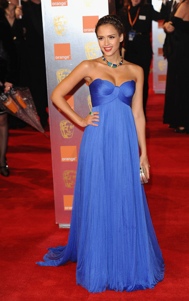 Actress Jessica Alba attends the 2011 Orange British Academy Film Awards at The Royal Opera House on February 13, 2011 in London, England.