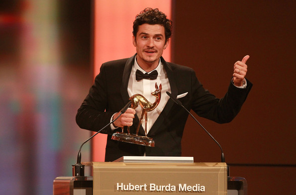 Orlando Bloom Actor Orlando Bloom receives the Charity award during the Bambi 2010 Award Ceremony at Filmpark Babelsberg on November 11, 2010 in Potsdam, Germany.
