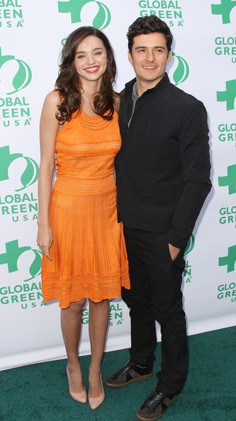 Orlando Bloom Model Miranda Kerr (L) and actor Orlando Bloom attend Global Green USA's 15th Annual Millennium Awards at the Fairmont Miramar Hotel and Bungalows on June 4, 2011 in Santa Monica, California.