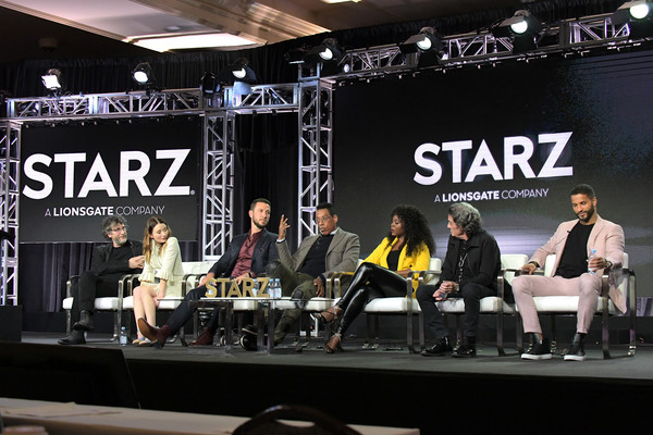 Starz 2019 Winter TCA Panel And All-Star After Party [event,musical instrument,electronic instrument,musician,performance,stage,percussion,drums,stage equipment,music,neil gaiman,yetide badaki,ian mcshane,orlando jones,pablo schreiber,emily browning,all-star after party,l-r,starz,winter tca panel]