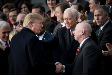 Orrin G. Hatch President Trump Speaks on the Passage of the GOP Tax Plan at The White House