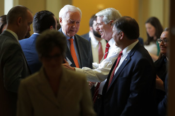Orrin Hatch Senate GOP And Democrats Hold Weekly Policy Luncheons