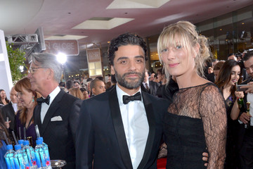 Oscar Isaac FIJI Water at the 73rd Annual Golden Globe Awards