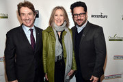 (L-R) Martin Short, Catherine O'Hara, and J.J. Abrams attend the Oscar Wilde Awards 2018 at Bad Robot on March 1, 2018 in Santa Monica, California.