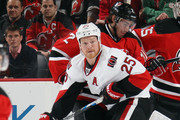 Chris Neil #25 of the Ottawa Senators skates against the New Jersey Devils at the Prudential Center on January 21, 2016 in Newark, New Jersey. The Devils defeated the Senators 6-3.