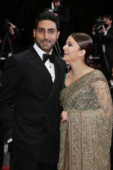 "Abhishek Bachchan and Actress Aishwarya Rai Bachchan attend ""Outrage"" Premiere at the Palais des Festivals during the 63rd Annual Cannes Film Festival on May 17, 2010 in Cannes, France."