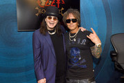 (L-R) Ozzy Osbourne and Billy Morrison attend the Ozzy Osbourne Album Special on SiriusXM's Ozzy's Boneyard Chanel at the SiriusXM Hollywood Studios at SiriusXM Studios on February 13, 2020 in Los Angeles, California.