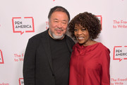 Ai Weiwei and Alfre Woodard attend PEN America 2018 LitFest Gala at the Beverly Wilshire Four Seasons Hotel on November 02, 2018 in Beverly Hills, California.