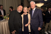 Ai Weiwei, Rebecca Ebershoff and David Ebershoff attend PEN America 2018 LitFest Gala at the Beverly Wilshire Four Seasons Hotel on November 02, 2018 in Beverly Hills, California.