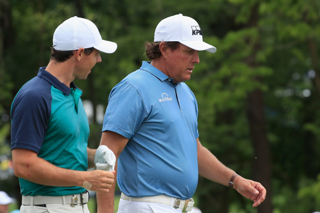 Phil Mickelson Rory Mcilroy Phil Mickelson And Rory Mcilroy Photos Zimbio