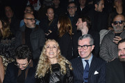 Franca Sozzani and Giorgio Guidotti attend the Philipp Plein Show during the Milan Menswear Fashion Week Fall Winter 2015/2016 on January 17, 2015 in Milan, Italy.